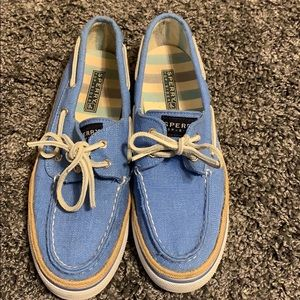 Blue canvas Sperry Top Siders